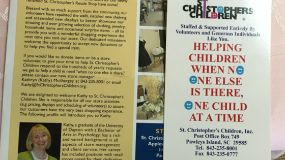 St' Christopher's Resale Shop; How Will You Help The Shadow Children of Georgetown County?