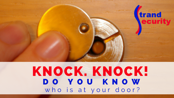 Knock, knock! Do you know who is at your door? Don't let strangers into your home before knowing who they are and what they want!