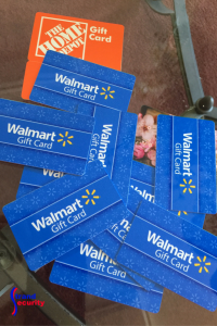 Gift card donations for the Louisiana Flood Victims.