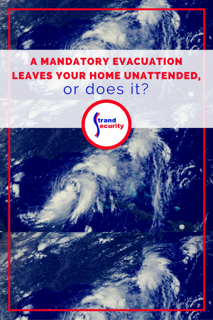 Mandatory evacuations during a hurricane is scary. Leaving your home behind is even scarier.  We have a solution on how you can keep tabs on your home and your business, even if you need to evacuate!