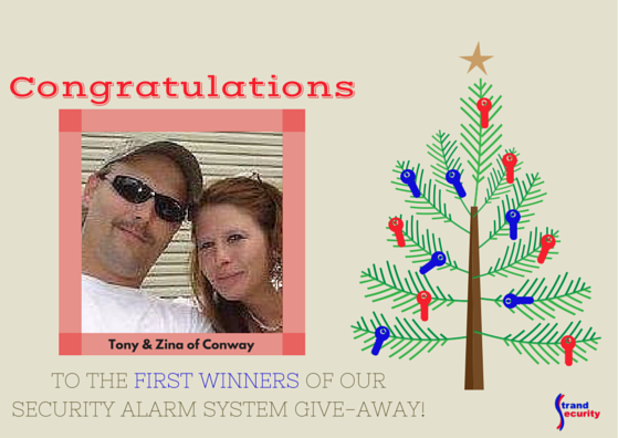 Security Alarm System Give Away Winner 2015  Myrtle Beach - week 1