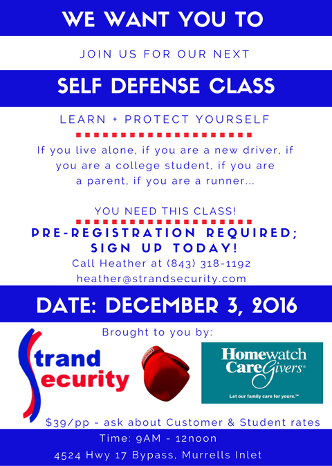 Self-defense class in Myrtle Beach