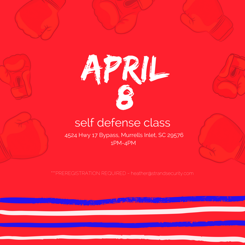 April 8 2017 Self Defense Class