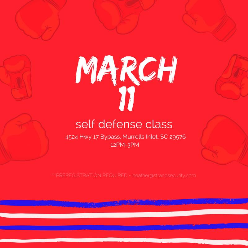 Myrtle Beach Self Defense Class MArch 2017