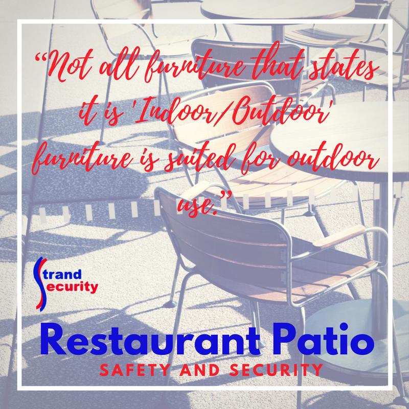 Restaurant Patio Security