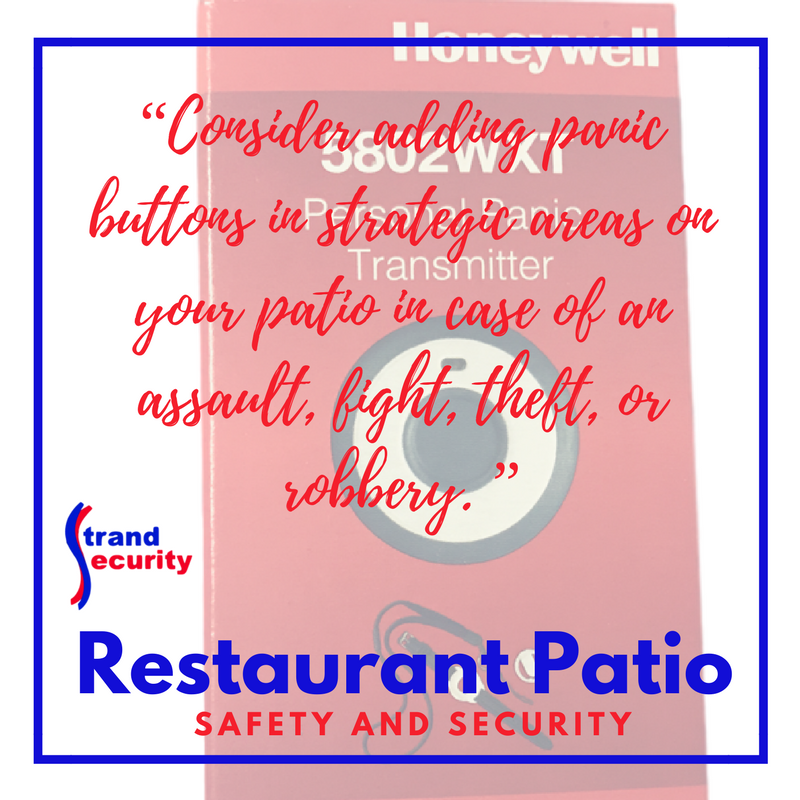 restaurant patio security Myrtle Beach