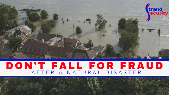 fraud after a natural disaster