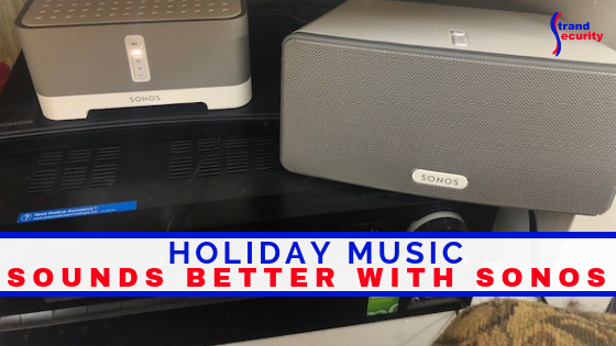 holiday music on SONOS speakers