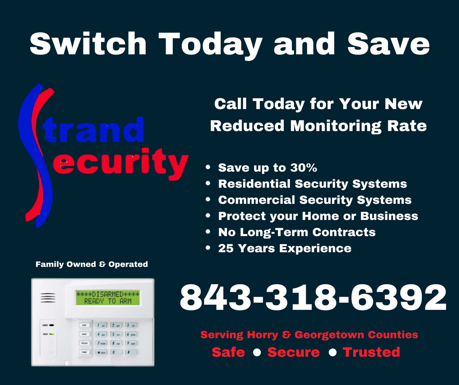 Strand Security Alarm Systems Myrtle Beach