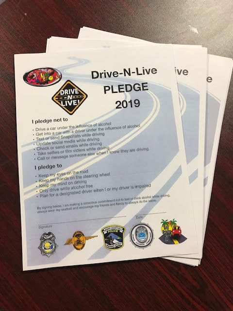 Drive N Live pledge